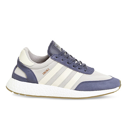 ADIDAS Iniki low-top suede trainers (Super purple white