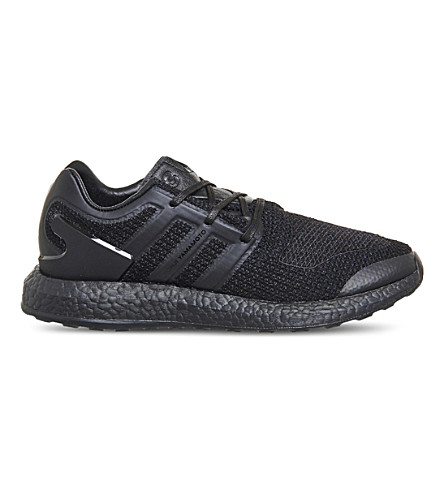 ADIDAS Y3 Pureboost low-top woven trainers (Black+black