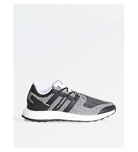 ADIDAS Y3 Pureboost mesh trainers (White+black