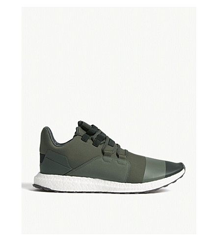 ADIDAS Y3 Y-3 Kozoko low trainers (Khaki+white
