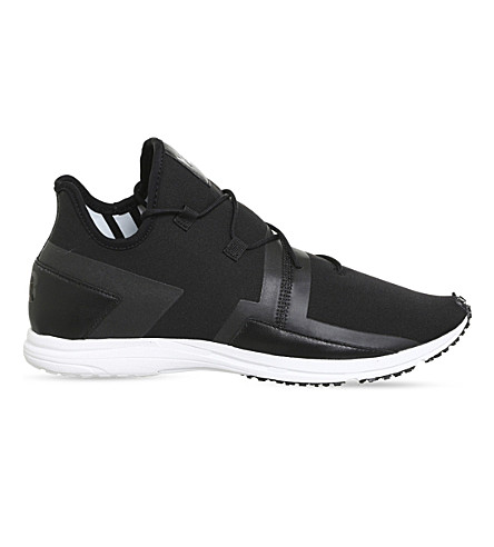 ADIDAS Y3 ARC RC leather trainers (Core+black+white