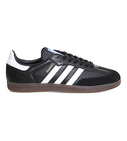 ADIDAS Samba OG low-top leather trainers (Black+white