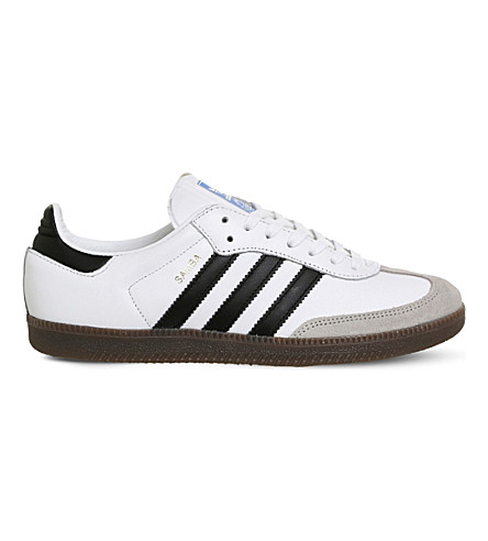 ADIDAS Samba OG low-top leather trainers (White+black+og
