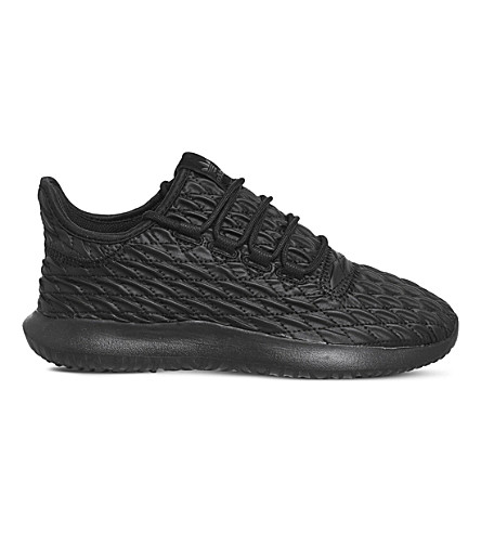 ADIDAS Tubular Shadow textured trainers (Black+black+txt
