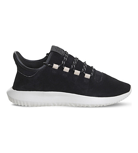 ADIDAS Tubular Shadow suede trainers (Black+off+white
