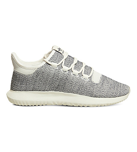 ADIDAS Tubular Shadow two-tone knit trainers (Off white