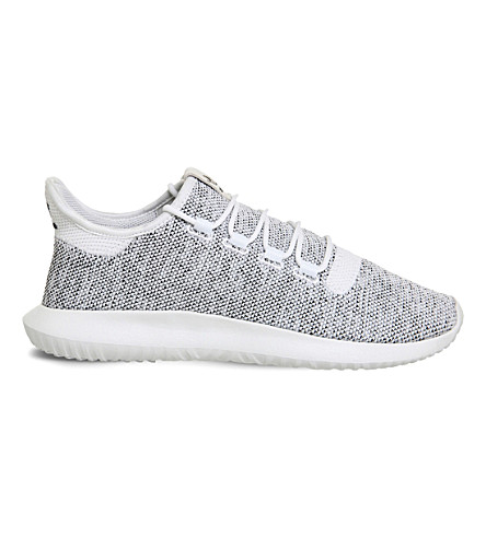 ADIDAS Tubular Shadow knitted trainers (White black knit