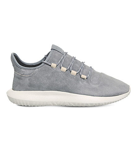ADIDAS Tubular Shadow suede trainers (Grey+grey+off+white