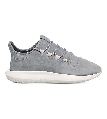 ADIDAS Tubular Shadow suede trainers (Grey+grey+off+white