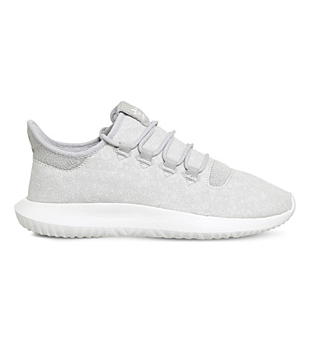 ADIDAS Tubular Shadow two-tone knit trainers (Grey two white