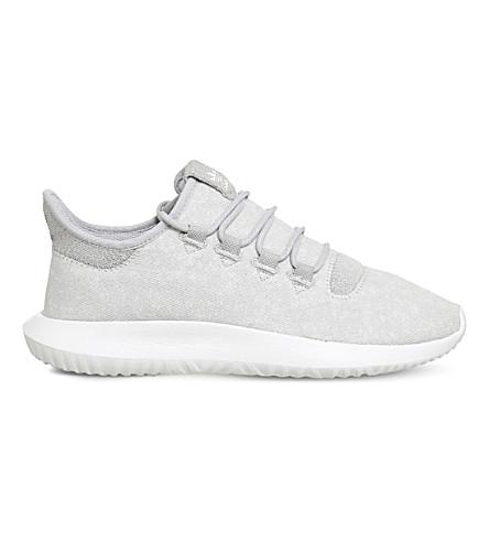 ADIDAS 管阴影 two-tone 针织运动鞋 (灰色 + 二 + 白色