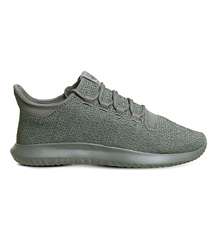 ADIDAS Tubular Shadow two-tone knit trainers (Grey+five