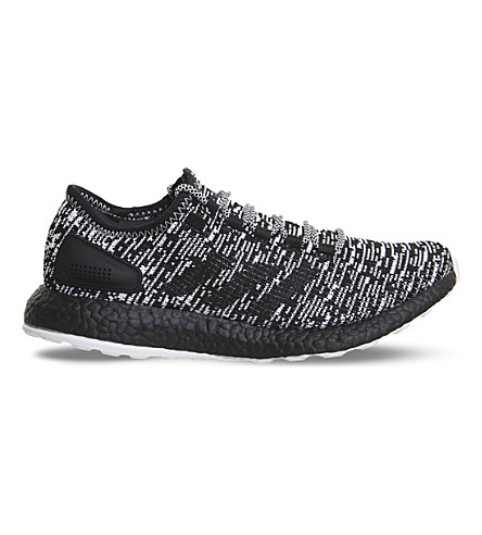 ADIDAS Pure Boost LTD statement mesh trainers (Black+white