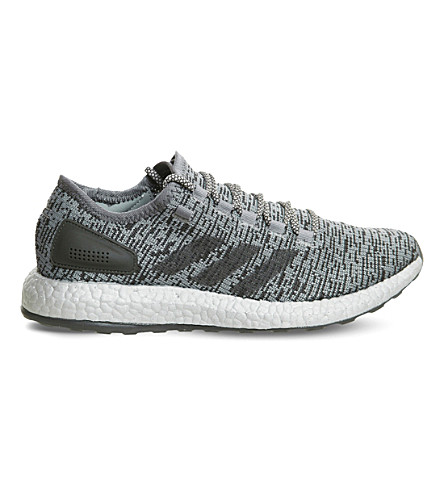 ADIDAS Pure Boost LTD statement mesh trainers (Dark+grey+clear+grey