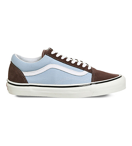 e60eb1e753334d VANS Old Skool 38 DX canvas and suede trainers (Brown+light+blue