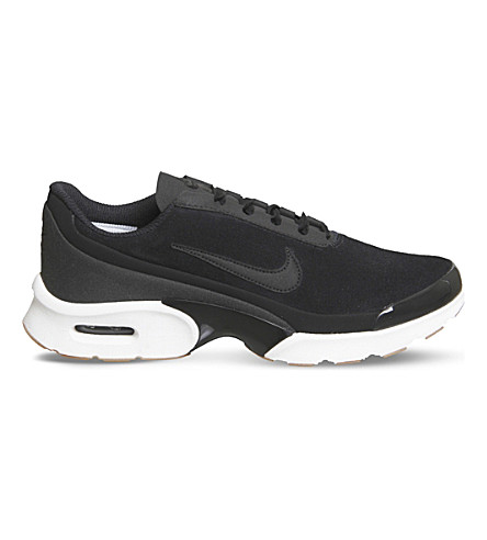 NIKE Air Max Jewell suede trainers (Black+black+white
