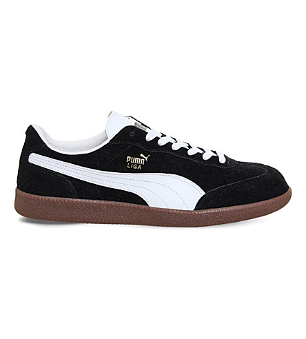 PUMA Liga suede trainers (Black white