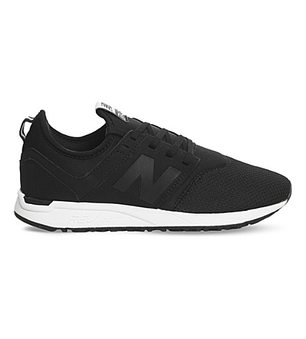NEW BALANCE 247 low-top mesh sneakers (Black+white