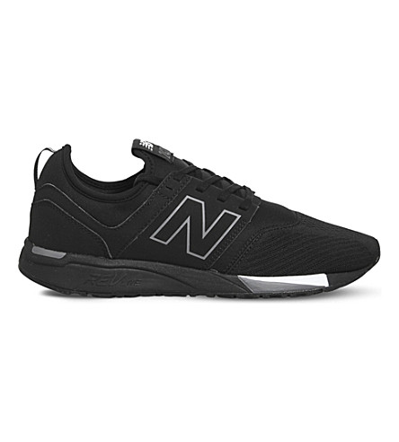 NEW BALANCE 247 classic leather trainers (Black+grey