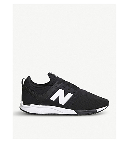NEW BALANCE 247 low-top mesh trainers (Black+white+u