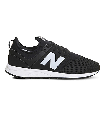 NEW BALANCE 247 low-top mesh trainers (Black+white+classic