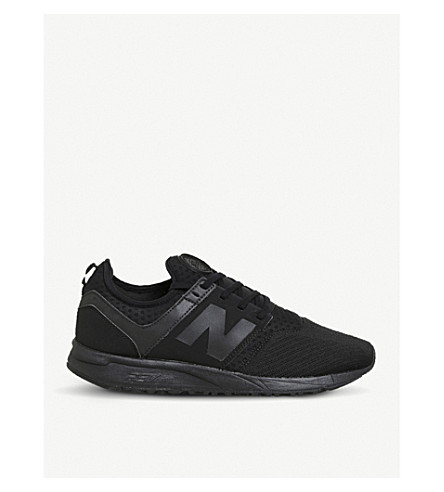 NEW BALANCE 247 low-top mesh trainers (Black+mono+sport