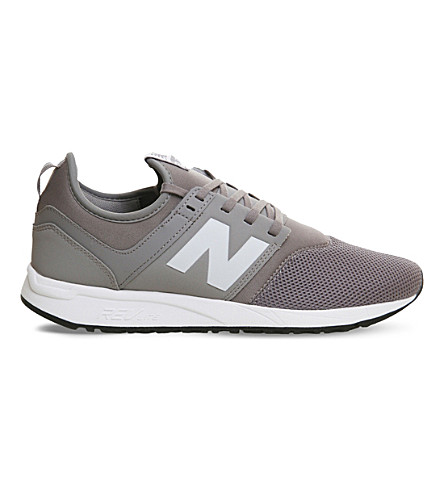 NEW BALANCE 247 low-top mesh trainers (Grey+white+classic