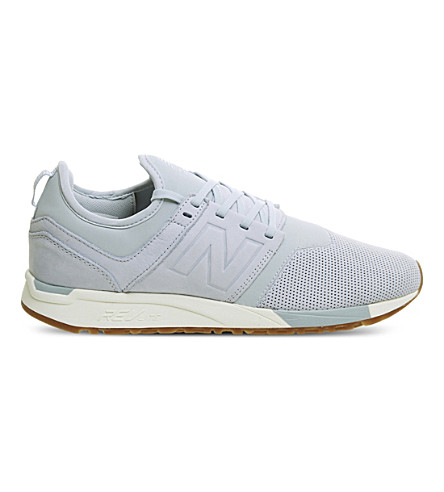 NEW BALANCE 247 classic leather trainers (Light+blue+white