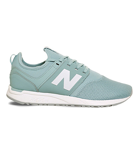 NEW BALANCE 247 mesh low-top trainers (Baby+blue+white