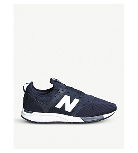 NEW BALANCE 247 low-top mesh trainers (Navy+u