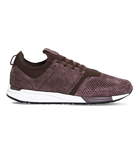 NEW BALANCE 247 classic leather trainers (Maroon+suede