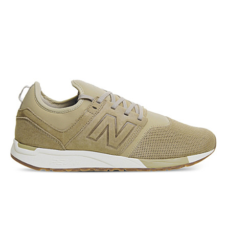 NEW BALANCE 247 classic leather trainers (Rust+white