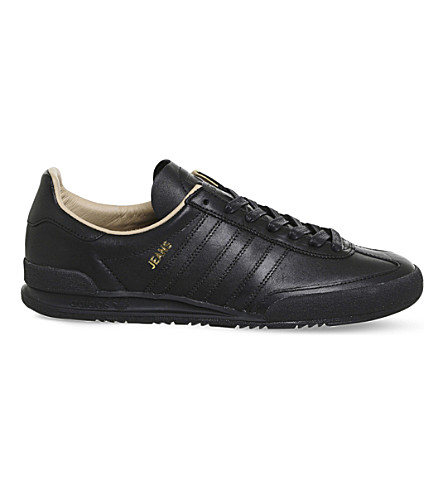 ADIDAS Jeans Mkii low-top leather trainers (Black+mono