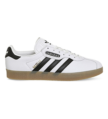 ADIDAS Gazelle Super leather trainers (Vintage+white+black
