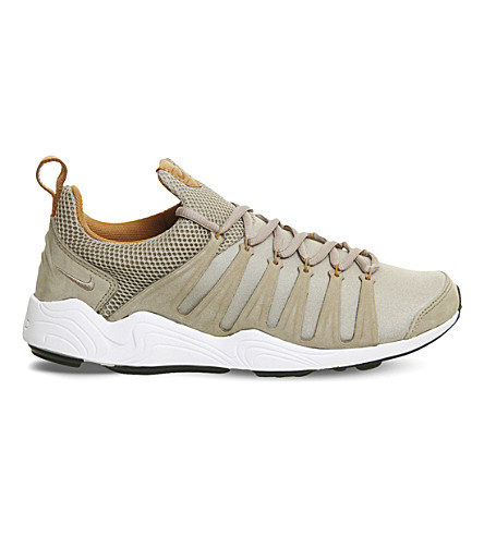 NIKE Zoom Spirimic leather and mesh trainers (Bamboo+white+gum+lab