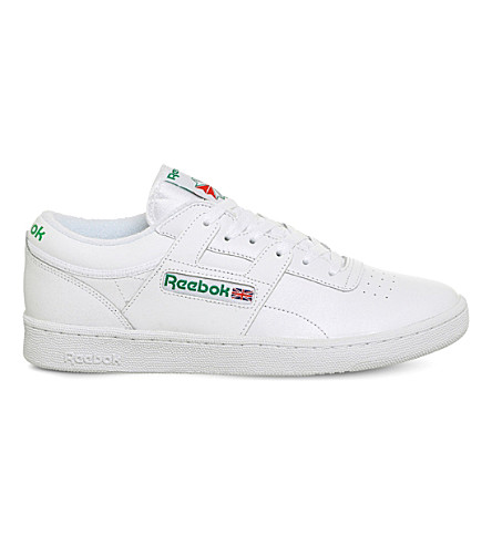 REEBOK Club Workout low-top leather trainers (White+glen+green