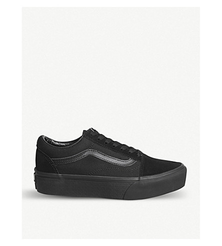 VANS Old Skool Platform suede trainers (Black+black