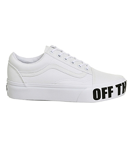 VANS Off the Wall Old skool platform trainers (White off the wall