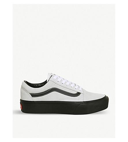 VANS Old Skool Platform suede trainers (Blanc+black