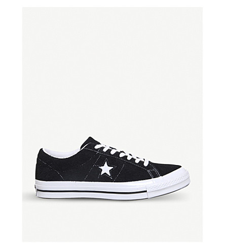 CONVERSE One Star low-top trainers (Black+black+white