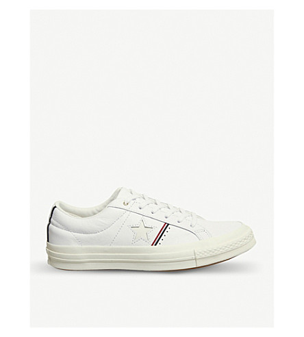 CONVERSE One Star low-top trainers (White+enamel+red