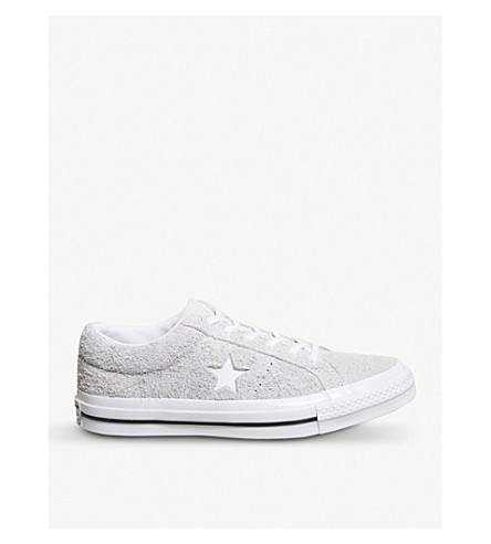 CONVERSE Converse One Star suede trainers (Ash+grey+white