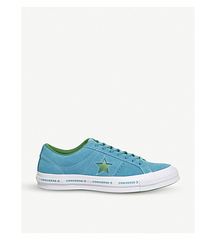 CONVERSE One Star suede low-top trainers (Hawaiian+ocean+green