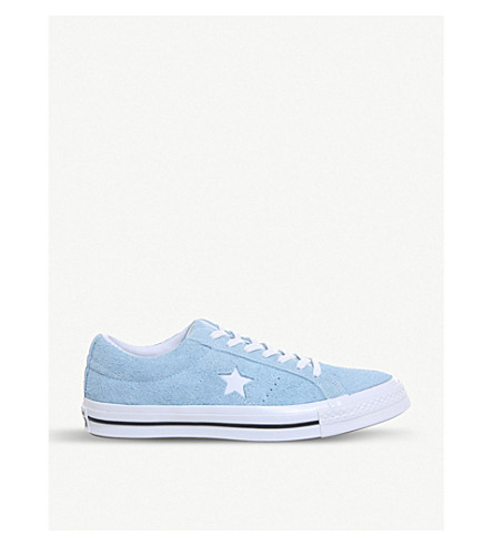 CONVERSE One Star suede trainers (Shoreline+blue+white