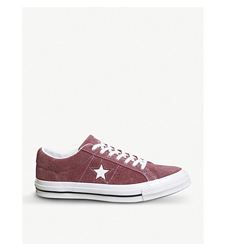 CONVERSE Converse One Star suede trainers (Deep+bordeaux+white
