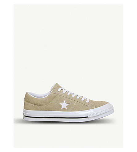 CONVERSE One Star suede low-top trainers (Vintage+khaki+white