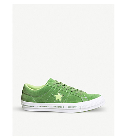 CONVERSE One Star suede low-top trainers (Mint+green+jade
