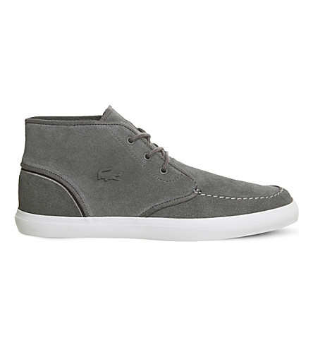 LACOSTE Sevrin mid-top trainers (Dark+grey