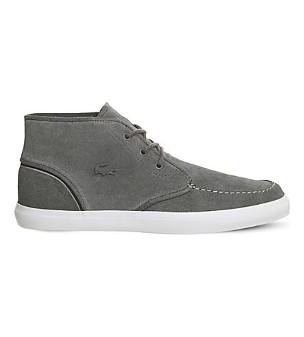 LACOSTE Sevrin mid-top sneakers (Dark+grey