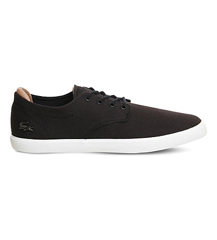 LACOSTE Espere canvas trainers (Black+canvas